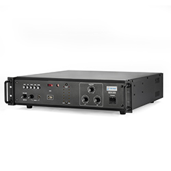 Pro-Audio 300W + 300W Dual channel amplifier with 4 Aux / 1 Microphone input.